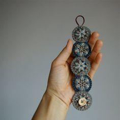 Penny+Wool+Felt+Bracelet+Wristband+Cuff+//+par+LoftFullOfGoodies,+$26.00