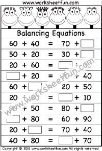 Balancing Equations   Worksheet  Equations