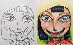 Thanks To Dad's Coloring Skills His Kids' Drawing Turns Into An Amazing Art!