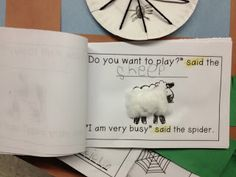 The Very Busy Spider printable book. I love the sensory components added to each animal.