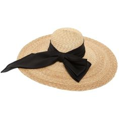 Kreisi Couture Women Genevieve Wide Brim Straw Sunhat (€450) ❤ liked on Polyvore featuring accessories, hats, natural, wide brim hat, beach hat, straw hat, straw beach hat and floral hat