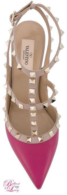 Brilliant Luxury by Emmy DE ♦ Valentino Rockstud Ankle Strap Pumps