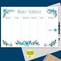 Weekly Schedule Planner, Kids Planner, Family Planner, Hourly Planner, School Planner, Weekly Planner Printable, School Schedule Printable, Daily Schedule Template, Schedule Design