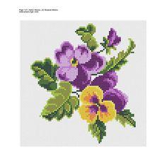 PDF Pansy cross stitch embroidery Pattern// Violet flowers Crewel Embroidery, Cross Stitch Embroidery, Embroidery Patterns, Cross Stitch Patterns, Flower Embroidery, Cross Stitch Bird, Cross Stitch Flowers, Cross Stitching, Hand Embroidery Tutorial