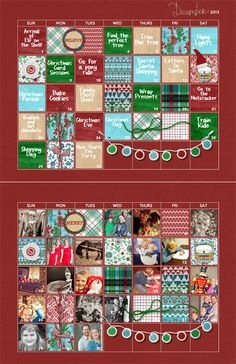 FREE December 2013 Advent Calendar Template  Download from #creatingkeepsakesmagazine