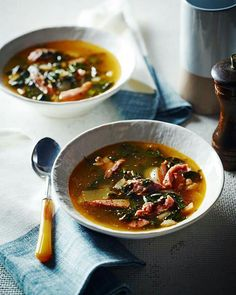 Recipe for ham hock soup by Pete Evans. Paleo Recipes, Real Food Recipes, Soup Recipes, Cooking Recipes, Paleo Meals, Winter Soups, Winter Food, Iftar, Gourmet