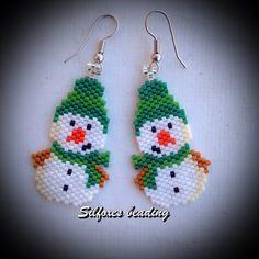 http://www.threadabead.com/3557/1/Snowman-in-Bobble-Hat-Earring-Bead-Pattern http://www.threadabead.com/3557/1/Snowman-in-Bobble-Hat-...