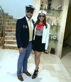 Maritime Kostüme für Paare - Offizier und Matrosin
