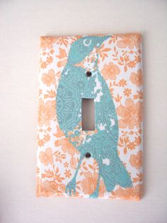 Dreamsicle Summer Switchplate Cover in soft Pastels.
