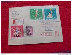 VINTAGE AUSTRIA Old Envelope Traveled COVER RARE HUNGARY STAMPS 1890-1970 OLYMPIC - Hungary
