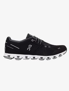 On Cloud Men S Running Shoe Black White In 2020 Running Shoes For Men Black Running Shoes Cushioned Running Shoes