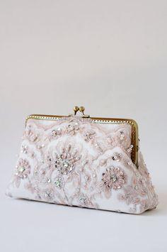 Blush romance clutch / bridesmaid gifts / by LeelaPurse on Etsy