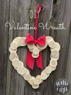 twelveOeight: Wood Slice Heart Shaped Wreath