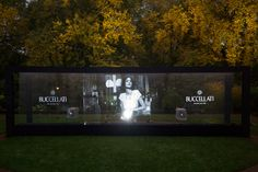 Screen water projection at the #BuccellatiOpera event at Spencer House, London, Britain on 21 Oct 2015.