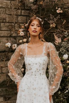 Dream Wedding Dresses, Bridal Dresses, Boho Wedding Dress, Prom Dresses, Pretty Dresses, Beautiful Dresses, Mode Hippie, Fairytale Dress, Wedding Looks