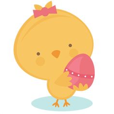 Miss Kate Chick Holding Egg SVG