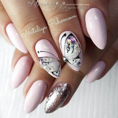 Heat Up Your Life with Some Stunning Summer Nail Art Butterfly Nail Designs, Butterfly Nail Art, Nail Art Designs, Love Nails, Pretty Nails, My Nails, Spring Nails, Summer Nails, Make Up Workshop