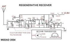 The simplest regenerative receiver circuit diagram