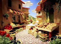 """""""Foodscapes"""": la nuova frontiera della fotografia del cibo. Il fotografo Carl Warner crea meravigliose scenografie - commestibili"""