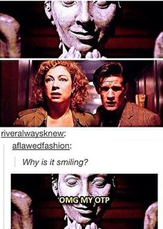 DYING so weeping angels ship the doctor and river while daleks ship the doctor and rose