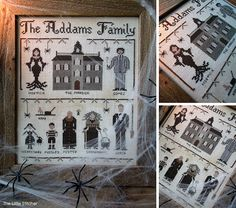The Addams Family  PDF Digital Cross Stitch by LittleStitcherShop, $12.00