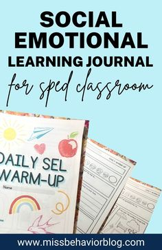 Guided journal with an emotion check in, emotional identification practice, coping skill choices, self exploration, flexible thinking exercises, and SEL reflection questions Classroom Behavior Management, Behavior Plans, Social Emotional Development, Social Emotional Learning, Reflection Questions, Self Exploration, Middle Schoolers, Social Awareness, Special Education Classroom