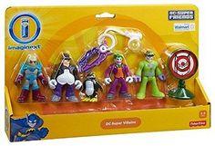 Action Figure Pack Imaginext Toy DC Super Friends Batman Villains Joker Riddler