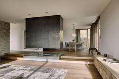 Haus Wiesenhof by Gogl Architekten  Oak, iron, natural stone, linen and hemp fabric.