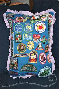 Daisy Girl Scout pillow from apron.