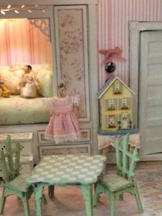 Finishing touches for little girls room of Pickett Hill. Love the built in bed!