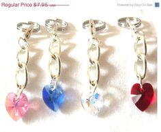 15% off everything in her shop check it out!!  10 mm Heart  Swarovski crystal Dog collar by HappyPawsDogCollars, $6.76