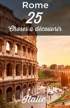 Visiter Rome, la capitale de l'Italie. Dans ce guide de Rome, vous trouverez des informations sur tous les sites à visiter, comme le Colisée, le forum romain, le Mont Palatin, ainsi que l'incontournable Cité du Vatican et la basilique Saint Pierre! Vous vous demandez que faire à Rome? Voici notre guide des 25 Choses à faire et à voir absolument!