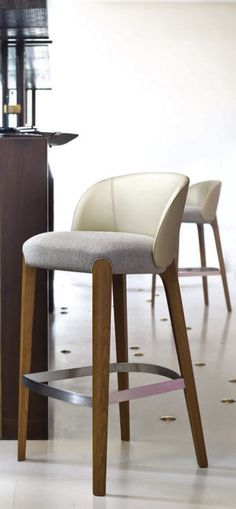 Nice bar stool with clean lines. I like the metal foot rail.