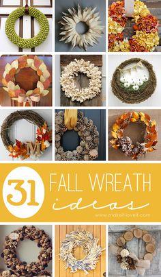 31 DIY Fall Wreath Ideas | via Make It and Love It