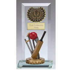 Flexx classic #cricket core jade glass trophy #award free engraving #g003a.fx057,  View more on the LINK: http://www.zeppy.io/product/gb/2/271730160801/