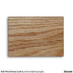 Oak Wood Grain Look Envelope