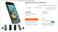 Here comes the first listing of Spice Android One Dream Uno Mi, costs Rs 6,999