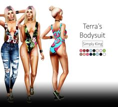 Sims 4 Updates: Simply King - Clothing, Female : Terra's Bodysuit, Custom Content Download!