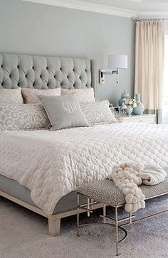Are you starting a new home decor project or simply want to redecorate for the new season? Let yourself be inspired by these 20 luxurious bedroom design ideas you will want to copy! Modern Bedroom Design, Master Bedroom Design, Bedroom Designs, Bedroom Colors, Bedroom Decor, Bedroom Ideas, Bedroom Inspiration, Pastel Bedroom, Bedroom Furniture