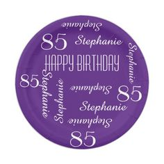 Paper Plates, 85th Birthday Party Repeating Names Paper Plate
