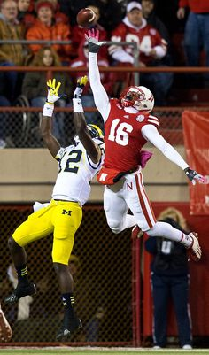 "University of Nebraska player: Jean-Baptiste ""The Reach"" Blackshirt Exteriors Nebraska Cornhuskers Football, Nebraska Football, Oregon Ducks Football, Notre Dame Football, Ohio State Football, American Football, Oklahoma Sooners, College Football Teams, Football Stadiums"