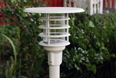 U7281 GRANIT Led Post Light - The outdoor lighting in painted, anodized aluminum and galvanized metal, with clear glass. Including transformer and light source. Material Metal Incl. light source Yes Light source Integrated LED Family Granit Watt 8 W Diameter 265 mm Height 250 mm Kelvin 3000 K Class 44 IP.