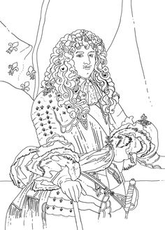 Louis XIV #Malbuch von  Illustratorin Lotie #illustration