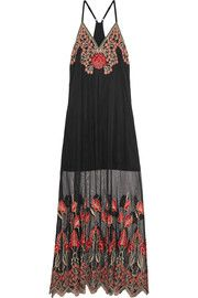 Alice + OliviaSally embroidered tulle maxi dress