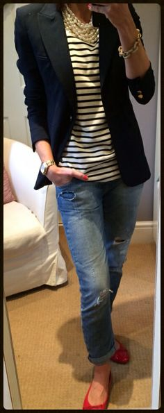 What I'm Wearing Today - Time For A Few Stripes