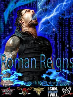 this is my roman reigns poster i have created really hope everyone enjoys this awesome poster i created Black lightning