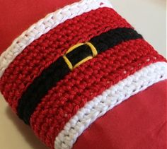 Christmas crochet pattern Christmas napkin ring by Handmadeisfun