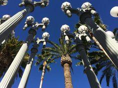 Lanterns outside LACMA, LA, CA, US