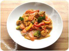 Oppskrift; thai- currywok