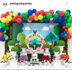 mickey mouse birthday party ideas Mickey Mouse Clubhouse Birthday Party Dessert Table and Decor Mickey First Birthday, Fiesta Mickey Mouse, Disney Mickey Mouse Clubhouse, Mickey Mouse Clubhouse Birthday Party, Mickey Mouse Parties, Mickey Party, 1st Boy Birthday, Miki Mouse, Birthday Party Tables